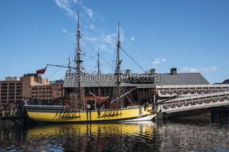usa massachusetts boston tall ship in