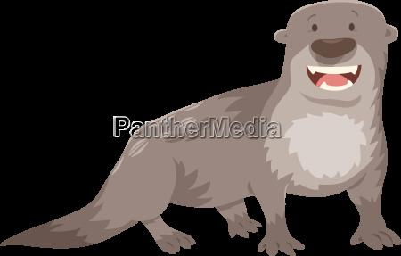 otter cartoon animal character