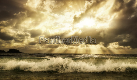 dramatic cloudscape over the sea with