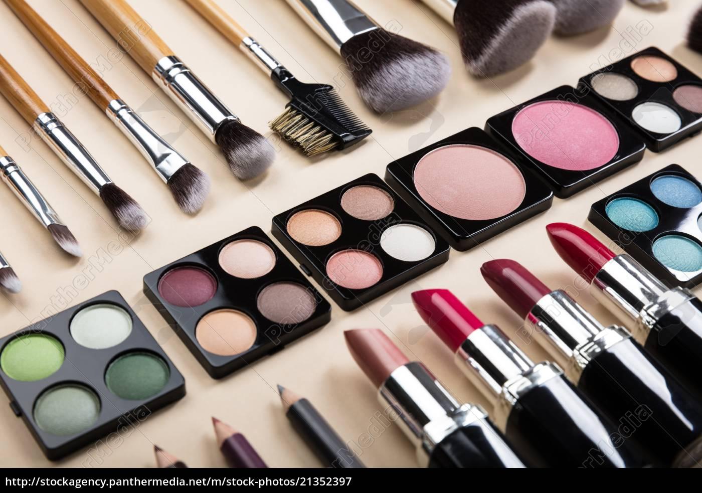 verschiedene, art, von, make-up, pinsel, und - 21352397
