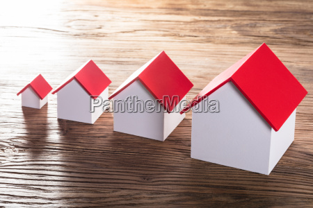 increasing house models on table