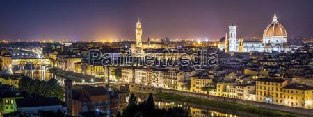 italy tuscany florence cityscape at night