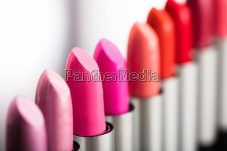 row of lipstick