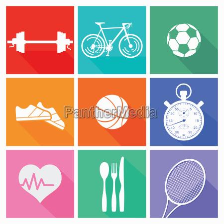sport und freizeit kollektion isoliert