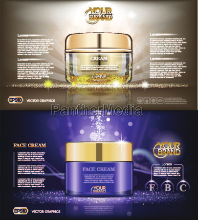 digital vector glass face cream brown