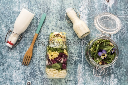 quinoa and orzo pasta salads in