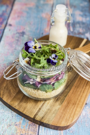 a quinoa salad with lambs lettuce