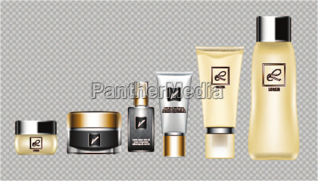 digital vector brown skin care cream