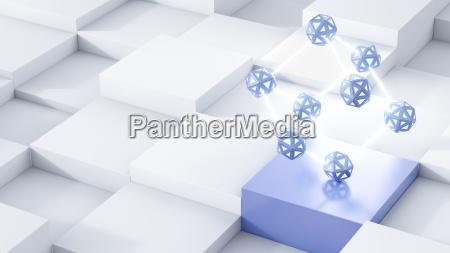 energy cubes 3d rendering