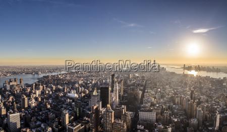 usa new york city cityscape