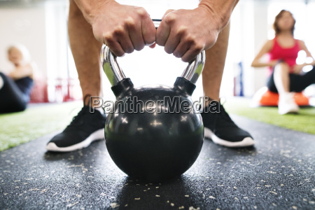 close up of man exercising with