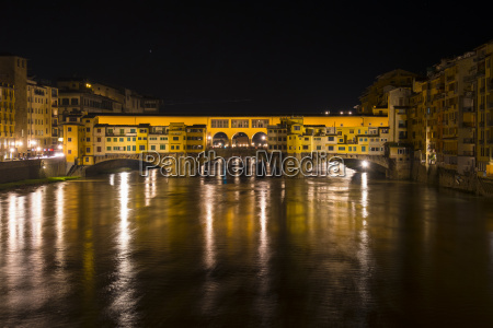 italy florence ponte vecchio by night