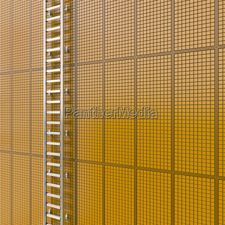 ladder fixed at tiled wall 3d