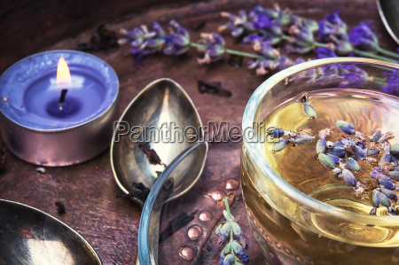 herbal tea with lavender