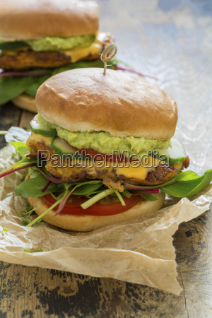 veggie burger with sweet potato patties
