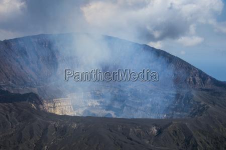 smoking ambrym volcano vanuatu pacific