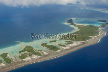 aerial of the blue lagoon in