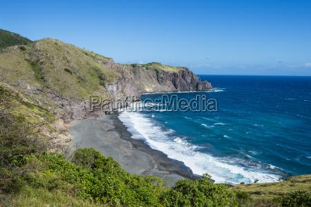 coastline of montserrat british overseas territory