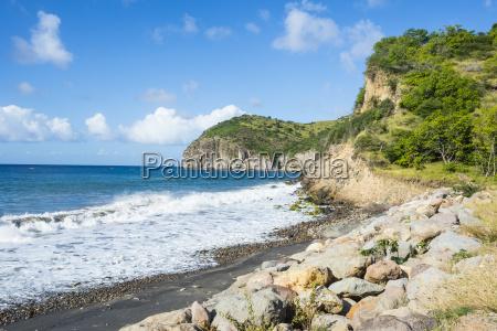 volcanic sand beach montserrat british overseas