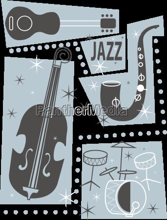 music sound poster card jazz festival