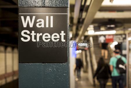 usa new york manhattan wall street