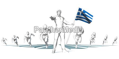 griechenland laeuft in die zukunft